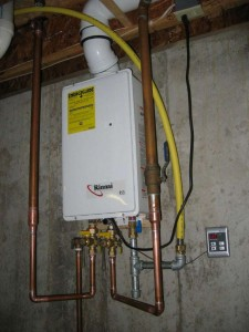 image of a tankless water heater